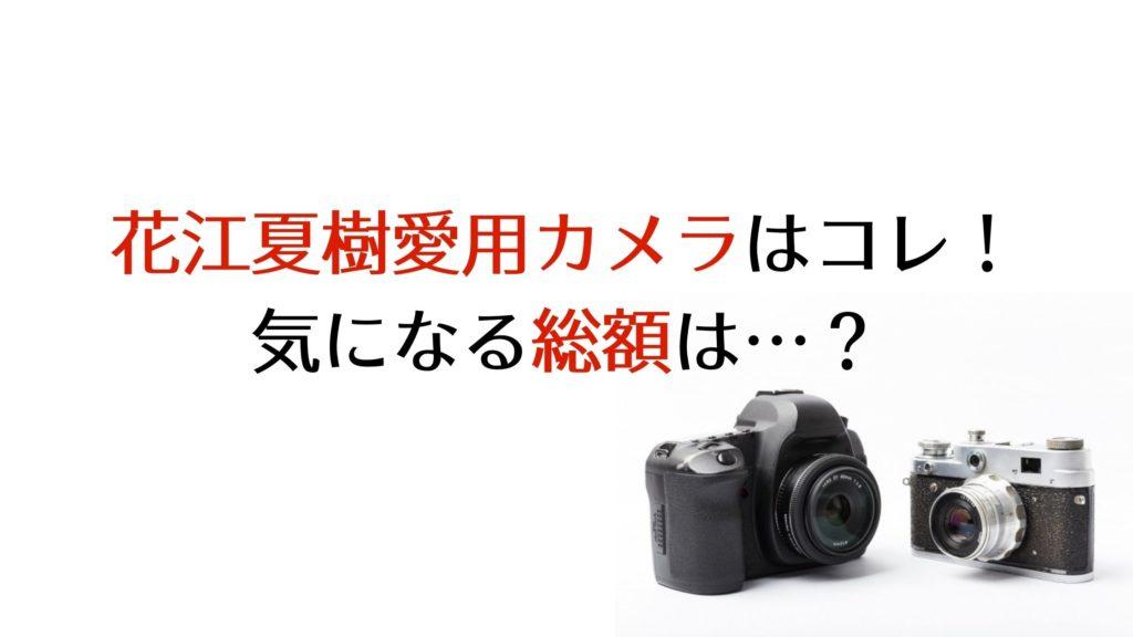 花江夏樹カメラの機種レンズ総額