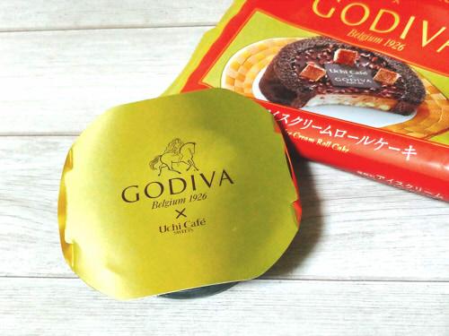 ローソンゴディバコラボ ショコラアイスクリームロールケーキ