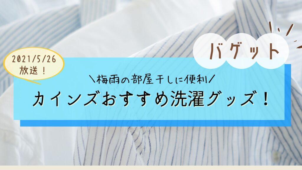 【バゲット】カインズ洗濯グッズおすすめ5選!梅雨に役立つ部屋干しグッズ