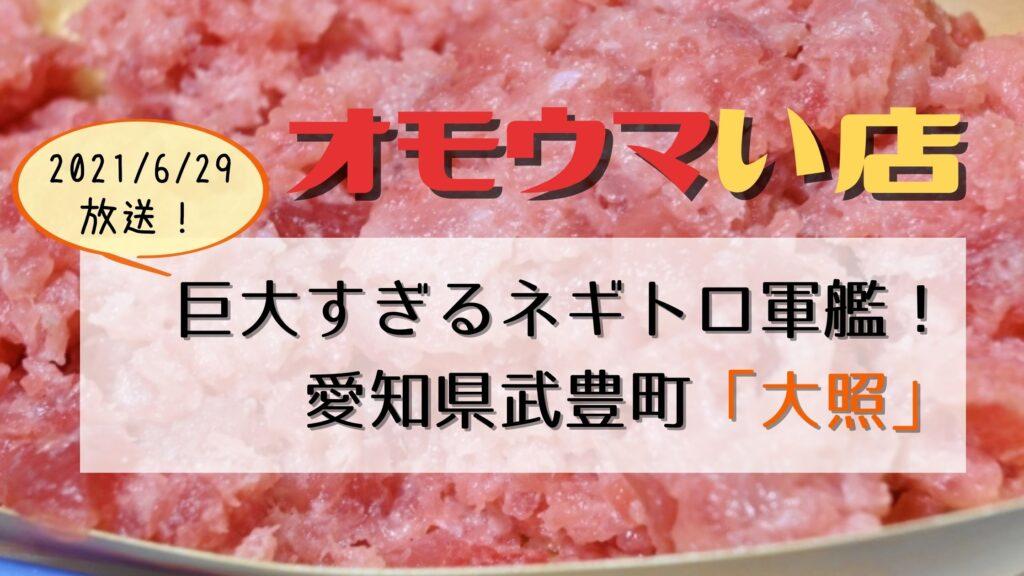 【オモウマい店】愛知県武豊町「大照」巨大ネギトロ400円のすし居酒屋
