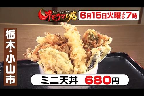 【オモウマい店】栃木県小山市「遊膳や」ミニ天丼680円