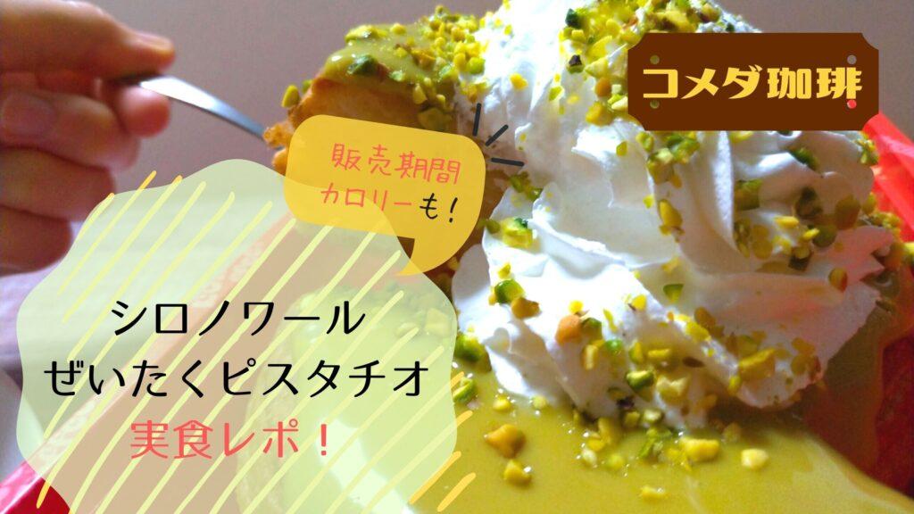 【実食】コメダ シロノワールピスタチオの感想!カロリーは?いつまで販売?口コミまとめ